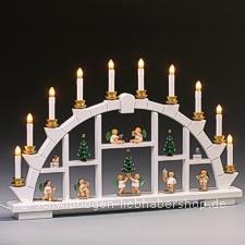 Wendt Und Kühn Weihnachtsbaum.Weisser Schwibbogen Mit Wendt Kühn Engeln 64 Cm